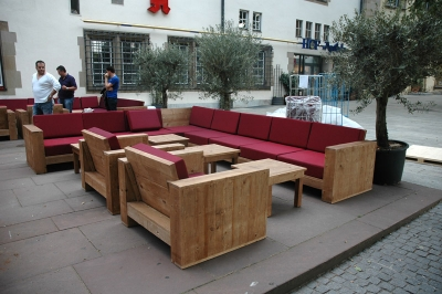 Completed the outdoor furnishing of  café restaurant Alte Kanzlei